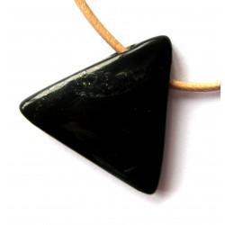 Dreieck Schungit gebohrt 3 cm
