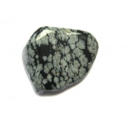 Trommelstein Obsidian Schneeflocke 100 g