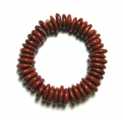 Scheiben-Armband Jaspis rot