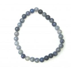 Kugel-Armband Blauquarz 6 mm