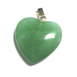Herz 20 mm Aventurinquarz grün