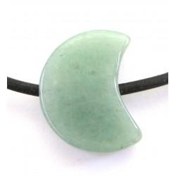 Mond gebohrt Aventurinquarz grün 15 mm