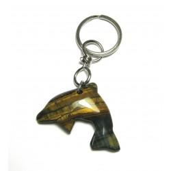 Schlüsselanhänger Delfin Tigerauge