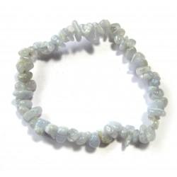 Splitter-Armband Chalcedon blau