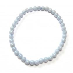 Kugel-Armband Chalcedon blau 4 mm