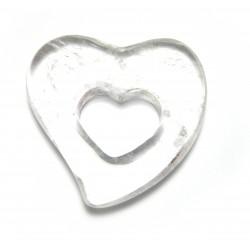 Schnurteil Herz in Herz Bergkristall 50 mm