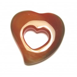 Schnurteil Herz in Herz Carneol (erhitzt) 50 mm
