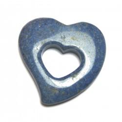 Schnurteil Herz in Herz Dumortieritquarz 50 mm