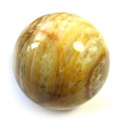 Kugel Calcit-Aragonit grün-braun 3 cm