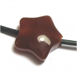 Stern gebohrt Carneol (erhitzt) 15 mm