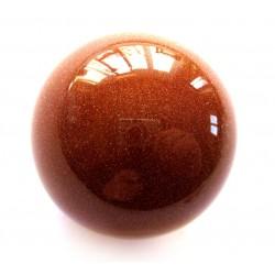 Kugel Goldfluss (Kunstglas) 3 cm
