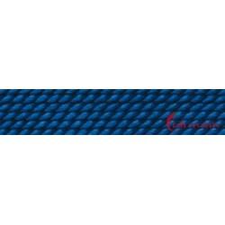 Perlfädelseide natur blau dunkel Nr. 2 0,45 mm/2m