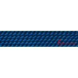 Perlfädelseide natur blau dunkel Nr. 8 0,80 mm/2m