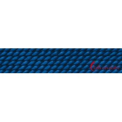 Perlfädelseide natur blau dunkel Nr. 10 0,90 mm/2m