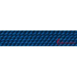 Perlfädelseide Synthetik blau dunkel Nr. 2 0,45 mm/2m + Vorfädelnadel