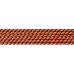 Perlfädelseide Synthetik carneol 0,45 mm/2m + Vorfädelnadel
