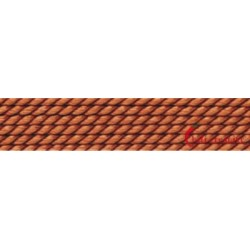Perlfädelseide Synthetik carneol 0,60 mm/2m + Vorfädelnadel