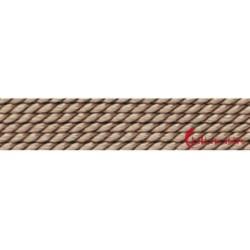 Perlfädelseide Synthetik beige 0,60 mm/2m + Vorfädelnadel