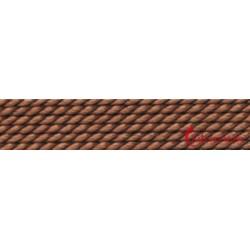 Perlfädelseide Synthetik braun 0,60 mm/2m + Vorfädelnadel