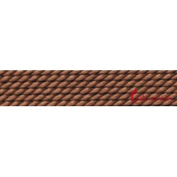 Perlfädelseide Synthetik braun Nr. 4 0,60 mm/2m + Vorfädelnadel
