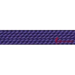 Perlfädelseide Synthetik amethyst Nr. 8 0,80 mm/2m + Vorfädelnadel