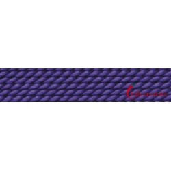 Perlfädelseide Synthetik amethyst 0,90 mm/2m + Vorfädelnadel