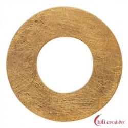 Varius-Kreis Silber vergoldet matt 50 mm