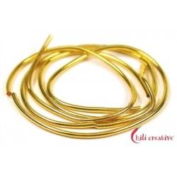 Perlspiraldraht vergoldet mittel 0,8 mm/1m