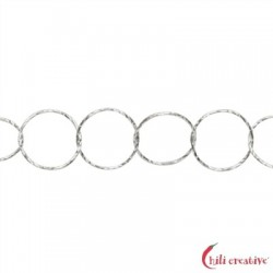Meterkette Glanzschnitt runde Glieder 7 mm Silber VE 1 m