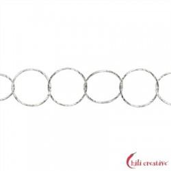 Meterkette Glanzschnitt runde Glieder 12 mm Silber VE 1 m
