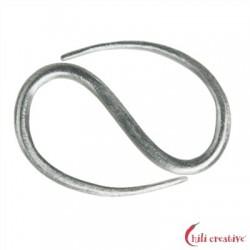 S-Haken Design 40 mm Silber 1 Stück