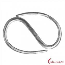 S-Haken Design 40 mm Silber matt 1 Stück