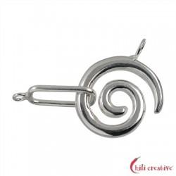 Haken Schnecke 26 mm Silber 1 Stück