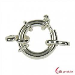 Federring Design 16 mm mit 2 Ösen Silber 1 Stück