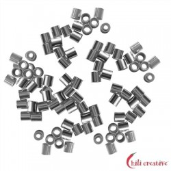 Crimp-Röhrchen 1,5 mm Silber VE 2600 Stück