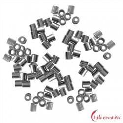 Crimp-Röhrchen 2 mm Silber VE 2000 Stück