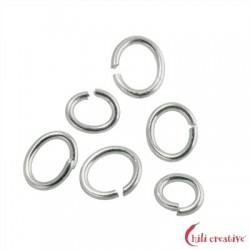 Biegering oval 4x6 mm Silber VE ca. 50 Stück