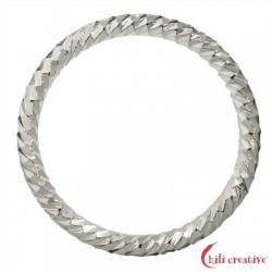 Hohlring facettiert 24 mm Silber VE 4 Stück