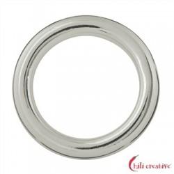 Hohlring Jumbo 25 mm Silber VE 2 Stück