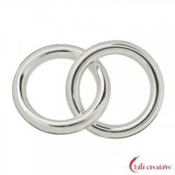 Hohlring Jumbo doppelt 25 mm Silber 1 Stück