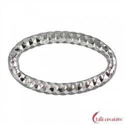 Binderinge oval 29 mm Silber facettiert VE 4 Stück
