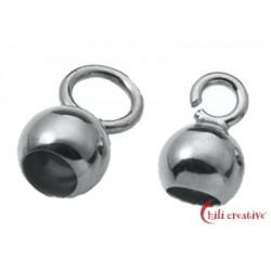 Endkapseln kleine Öse 5 mm Silber VE 10 Stück