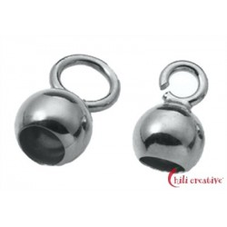 Endkapseln kleine Öse 6 mm Silber VE 10 Stück