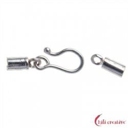 Haken für 2 mm-Bänder Silber VE 3 Stück