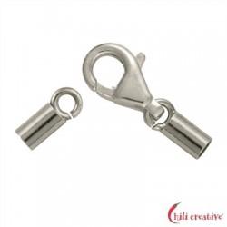 Karabiner für 1,5 mm-Bänder Silber VE 3 Stück