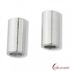 Röhrchen 3,5x7 mm Silber matt VE 10 Stück