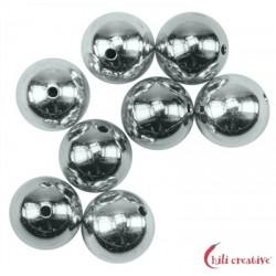 Kugel 14 mm Silber 1 Stück
