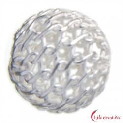 Netz-Kugel 10 mm Silber VE 6 Stück