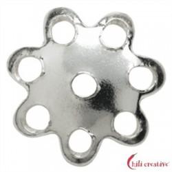 Halbschale Blüte 8 mm Silber VE 70 Stück