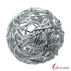 Draht-Kugel 16 mm Silber 1 Stück